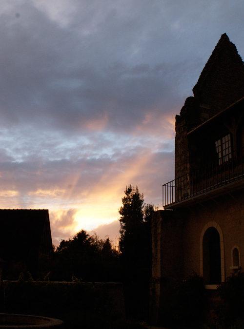 Coucher de soleil sur l'Abbaye